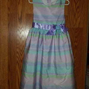Girls goodlad pastel striped dress size  6x